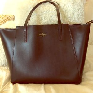 Kate spade scalloped leather tote